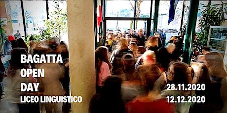 Open Day Liceo Bagatta   INDIRIZZO  LINGUISTICO biglietti