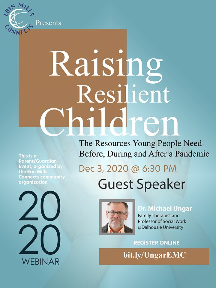 Raising Reslient Children, featuring guest speaker Dr. Michael Ungar image