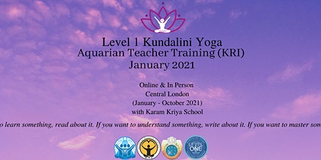 London Karam Kriya Kundalini Teacher Training January 2021 tickets