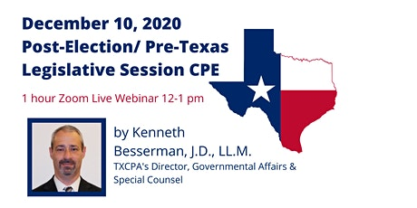 December Chapter Meeting & Post-Election/Pre-Texas Legislative Session CPE tickets