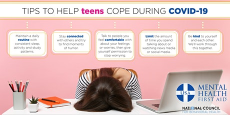 Virtual Youth Mental Health First Aid- for adults interacting with youth tickets