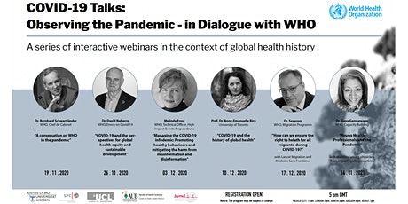 Covid-19 Talks: Observing the Pandemic - in Dialogue with WHO tickets