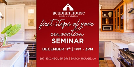 First Steps of Your Renovation Seminar tickets