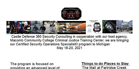 Certified Security Operations Specialist© (CSOS) Michigan tickets