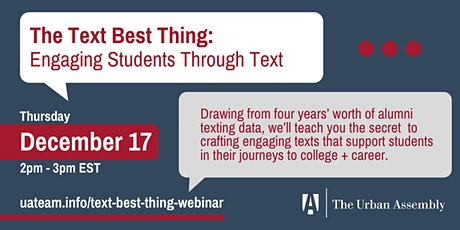 The Text Best Thing: Engaging Students Through Text tickets