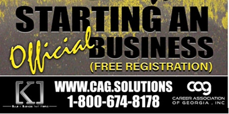 9 Steps to Start an Official Business Webinar tickets