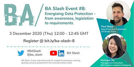 BA/ #8: Energising Data Protection - awareness, legislation & requirements tickets