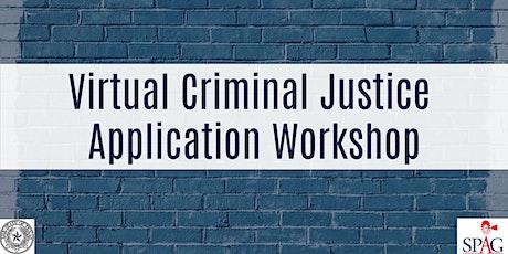 Virtual Criminal Justice Application Workshop tickets