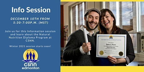 Natural Nutrition Info Session December 10 tickets