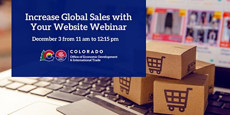 Increase Global Sales with Your Website Webinar tickets