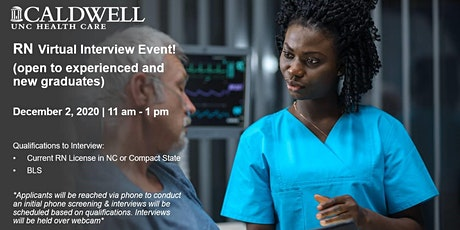 Caldwell Virtual RN Interview Event (Appointment only) tickets