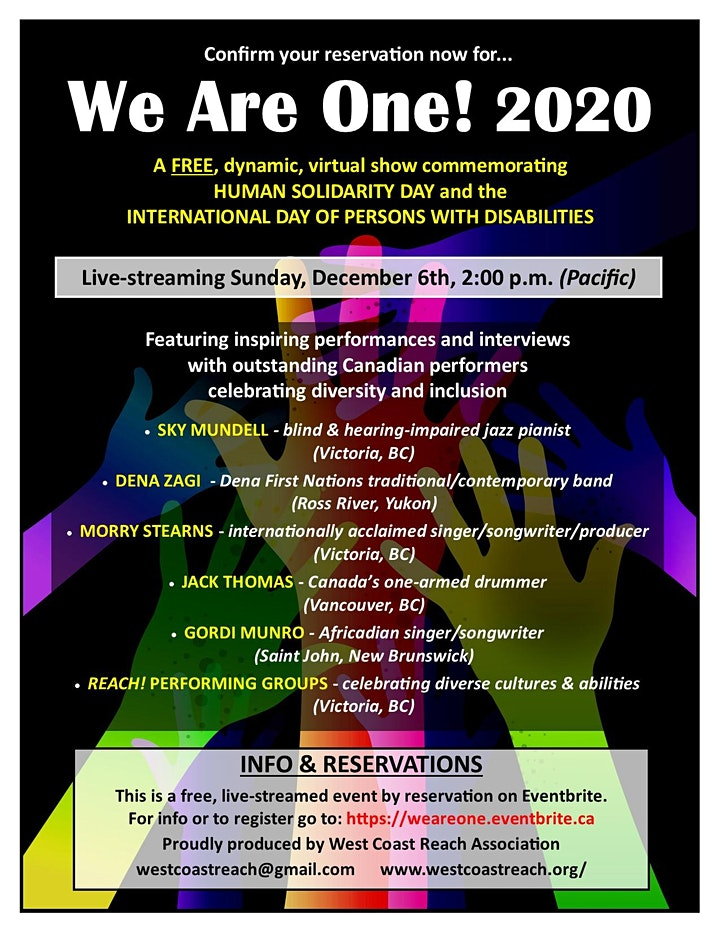 We Are One! 2020 image