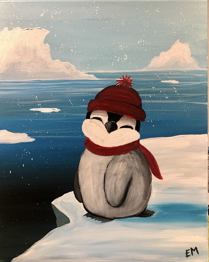 Paint night CARSTAIRS! Baby penguin image