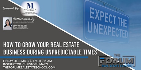 ONLINE - How to Grow Your Real Estate Business During Unpredictable Times tickets