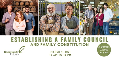 Establishing a Family Council and Developing a Family Constitution tickets