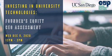 Investing in University Technologies tickets