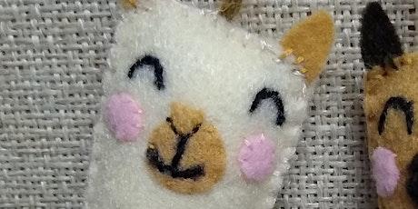 Llama Felt Ornament Adult Craft Kit Pickup tickets