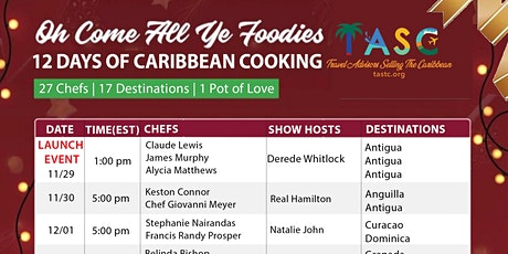 12 Days of Caribbean Cooking Festival - VIRTUAL tickets