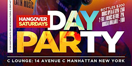 Hangover Saturday's Day Party tickets