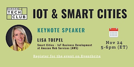 The Internet of Things and Smart Cities tickets
