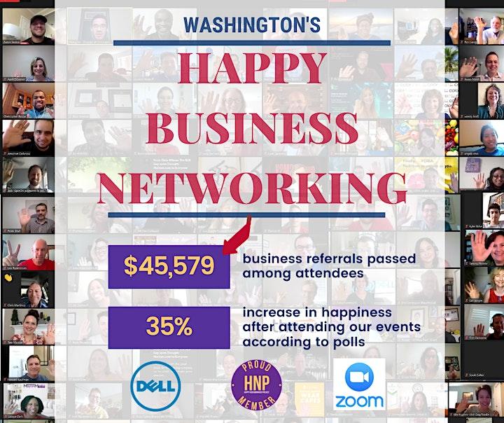 Free Online Happy Business Networking Washington image