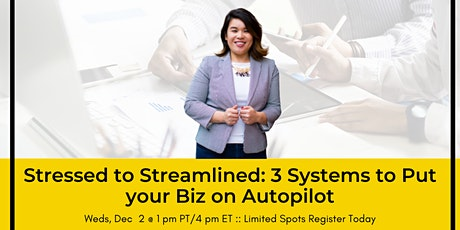 Stressed to Streamlined: 3 Systems to Put your Biz on Autopilot entradas