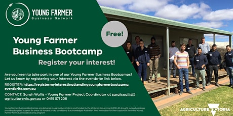 Register my interest in attending a Young Farmer Business Bootcamp! entradas