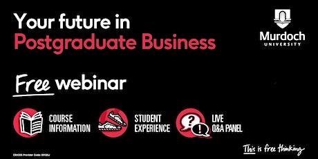 Webinar: Postgraduate Business tickets