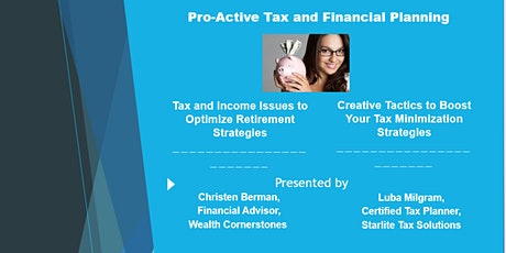 Pro-Active Tax and Financial Planning tickets