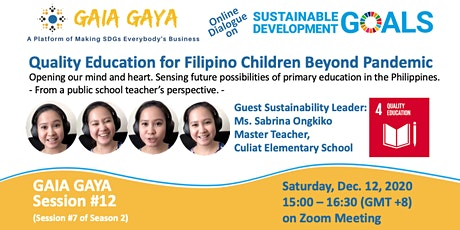 GAIA GAYA #12: Quality Education for Filipino Children Beyond Pandemic tickets