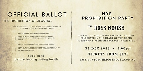 NYE Prohibition Party in The Doss House tickets