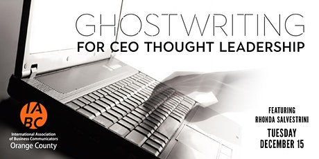 Ghostwriting for CEO Thought Leadership tickets