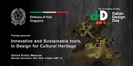 Innovative and Sustainable Tools in Design for Cultural Heritage biglietti