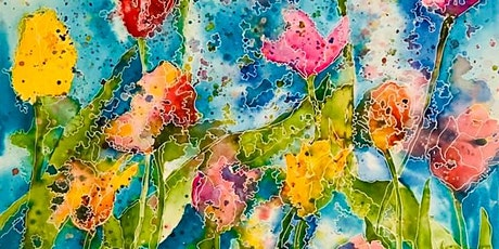 The Friday Gallery Watercolour painting live online class: Abstract Flowers tickets