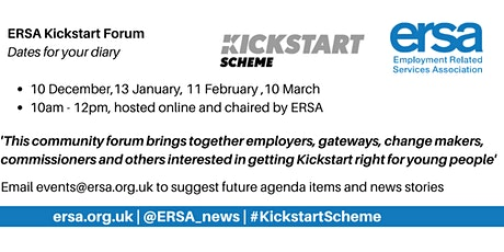 ERSA Kickstart Forum tickets