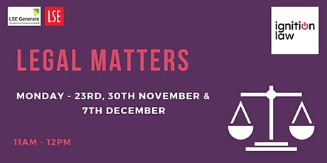 Legal Matters Series - Preparing for (and bootstrapping) a funding round tickets