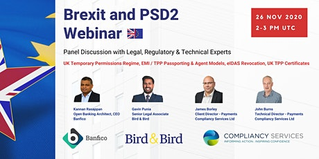 Webinar: Panel Discussion on Brexit and PSD2 tickets