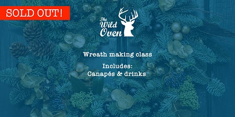 Wreath making class with canapés and drinks tickets