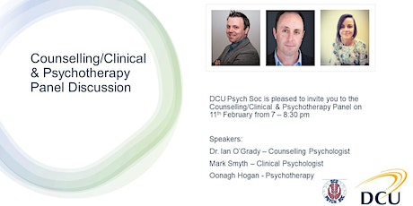 DCU Psychological Society - Counselling/Clinical/Psychotherapy Panel tickets