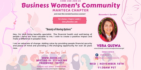 BWC Manteca Chapter Virtual Meeting tickets