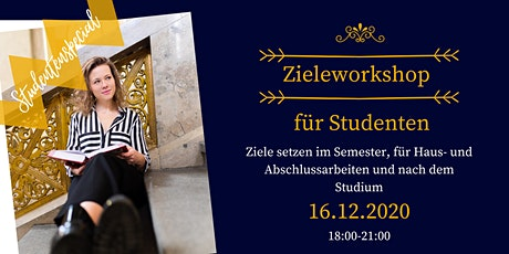 Zieleworkshop für Studenten Tickets