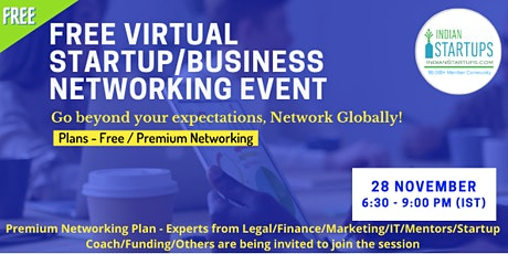 Virtual Startup/Business Networking Event tickets