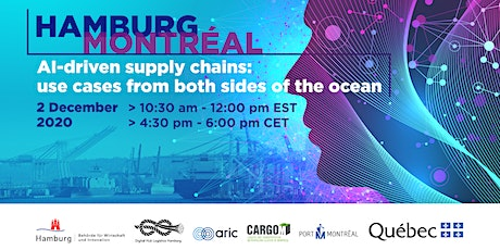 Hamburg - Montreal: AI-driven supply chains - use cases tickets