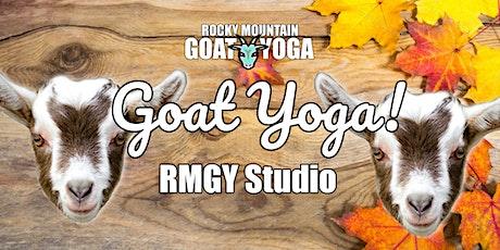 Goat Yoga - November 29th (RMGY Studio) tickets