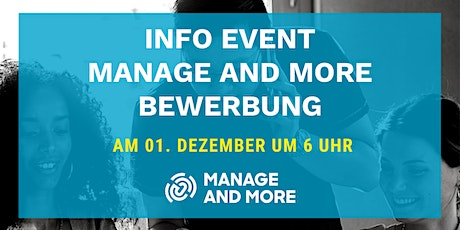 Info Abend zur Manage and More Bewerbung