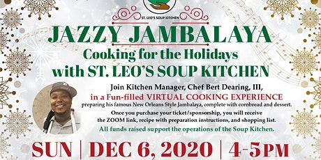 Jazzy Jambalaya: Cooking for the Holidays with St. Leo's Soup Kitchen tickets