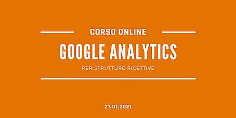 Google Analytics per Strutture Ricettive biglietti
