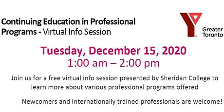Continuing Education in Professional Programs - Virtual Info Session tickets