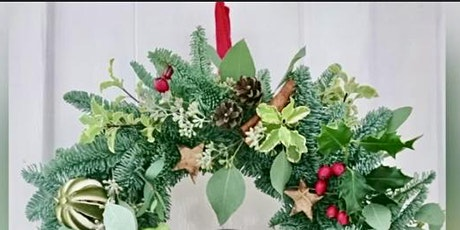Luxury Christmas Wreath Workshop at Trevince tickets