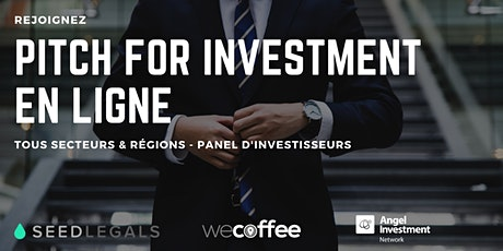 Pitch For Investment - En Ligne billets